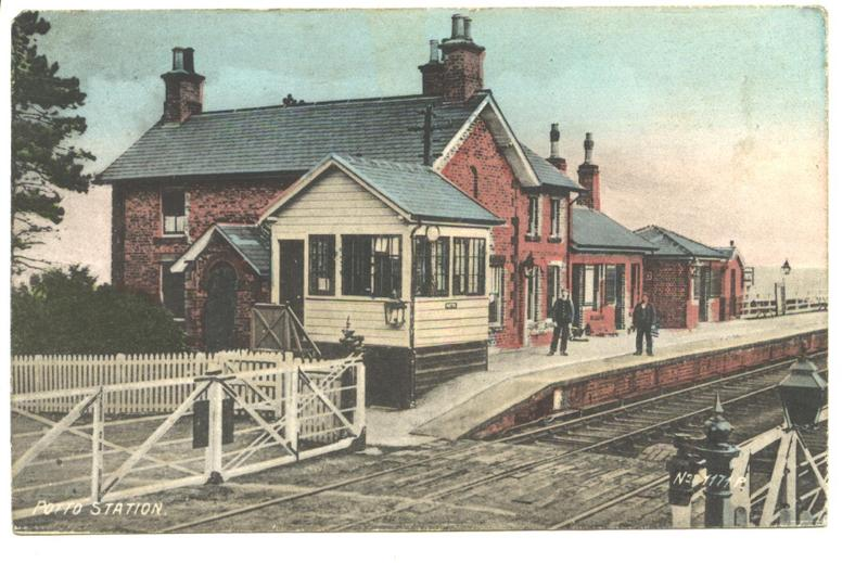 Postcard of Potto Station 1906