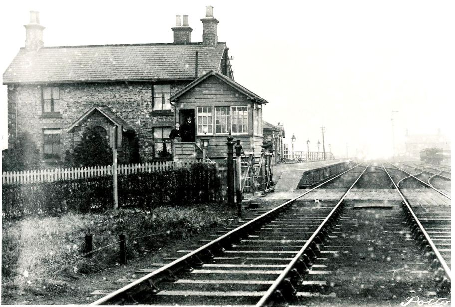 Potto Station - Looking East circa 1920